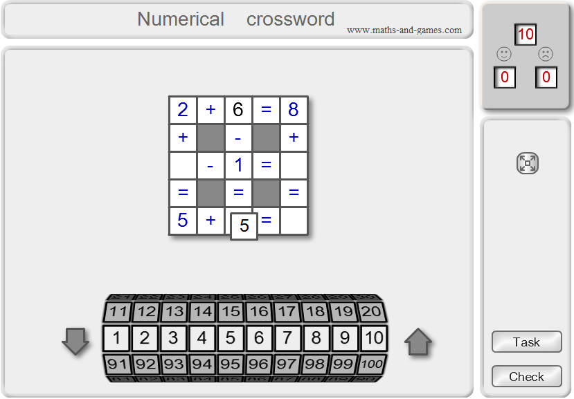 Numerical crossword online